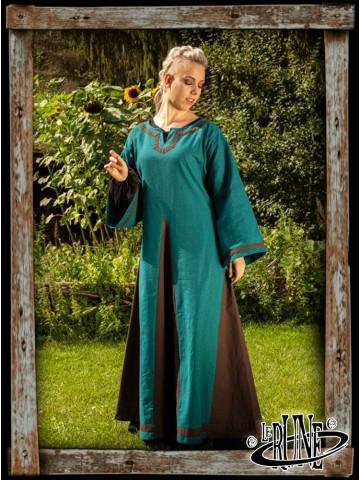 Astrid dress Azure/Brown