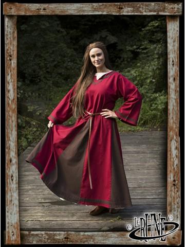 Astrid dress - Red/Brown