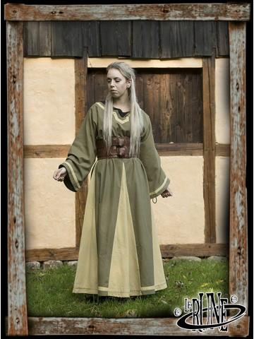 Astrid dress Dryad Green/Beige