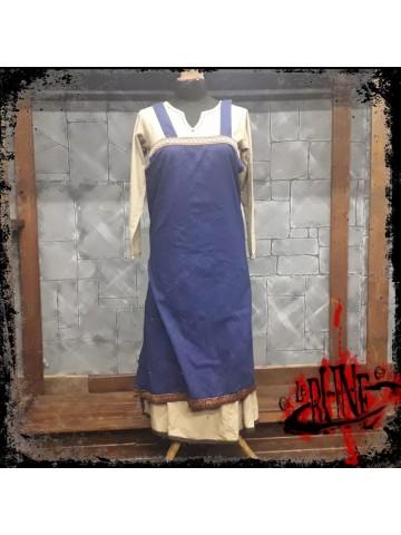 Canvas apron Swann blue