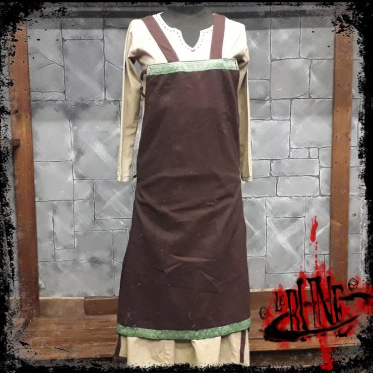 Canvas apron Swann brown