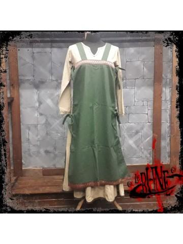 Canvas apron Swann green