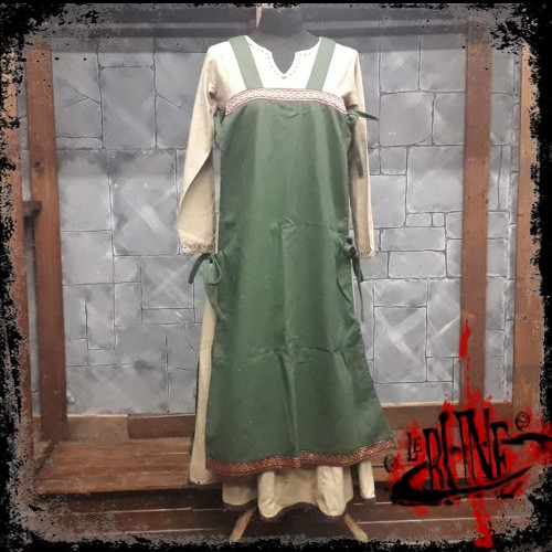 Canvas apron Swann green