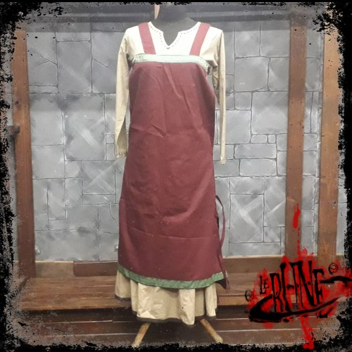 Canvas apron Swann wine red
