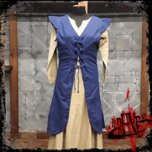 Canvas dress Cornelia blue