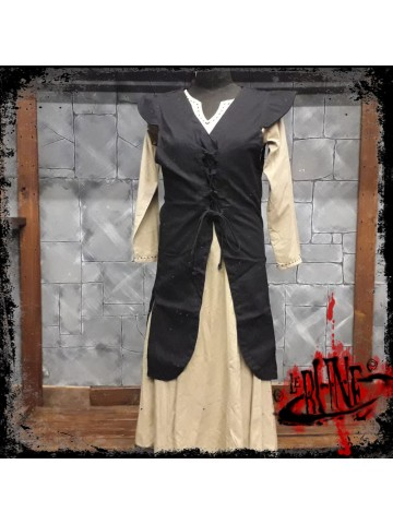 Canvas dress Cornelia black