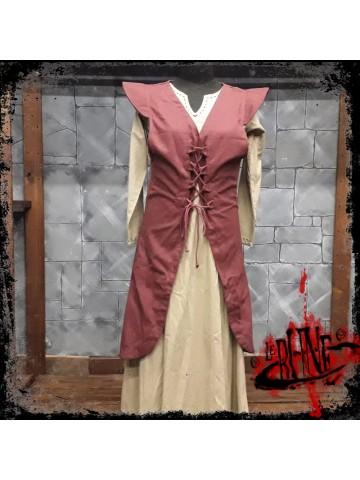 Canvas dress Cornelia wine red