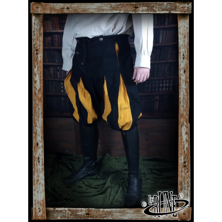 Canvas trousers Olaf Black/Yellow