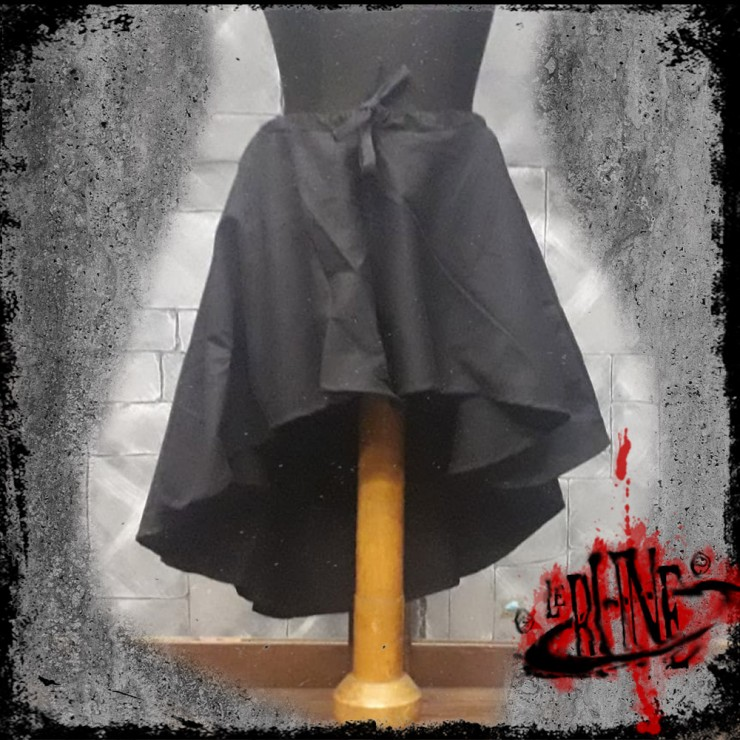 Canvas skirt Amelia black