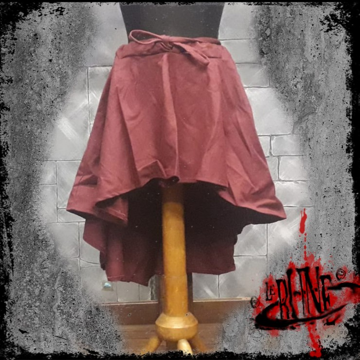 Canvas skirt Amelia wine red