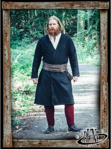 Wool viking jacket Balder - Black