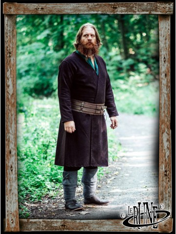 Wool viking jacket Balder - Brown