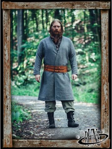 Wool viking jacket Balder - Grey