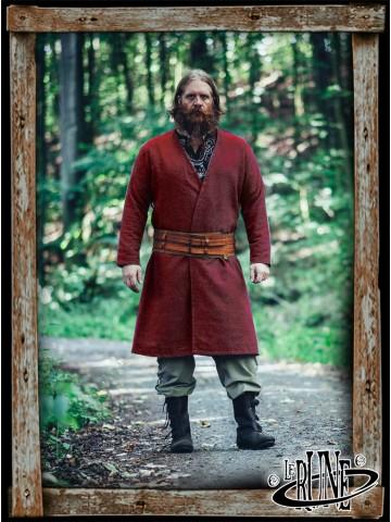 Wool viking jacket Balder - Red