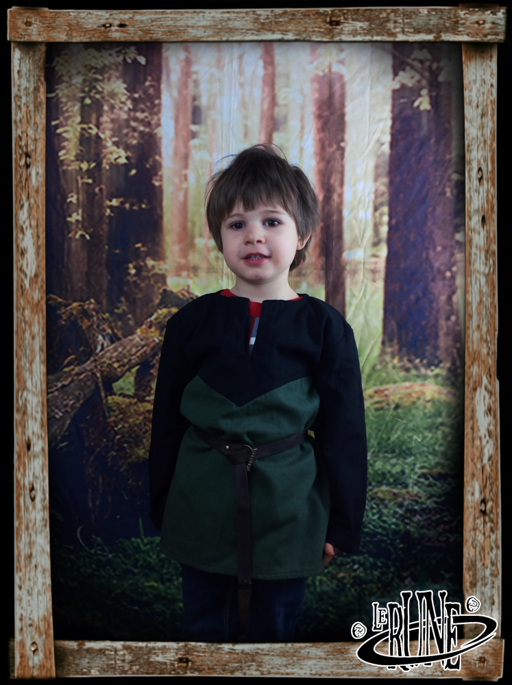 Canvas tunic Robin Black/Green