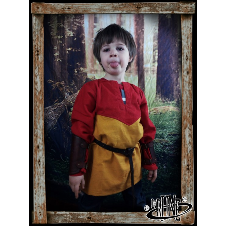Canvas tunic Robin Red/Yellow