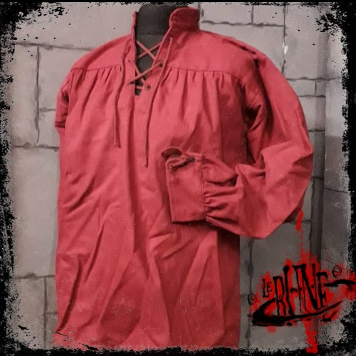 Canvas shirt Parsifal wine red