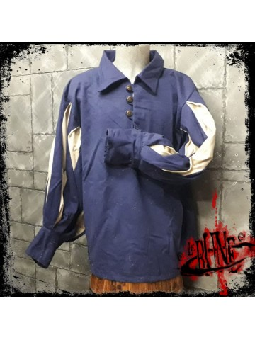 Canvas shirt Olaf  Blue/Nature