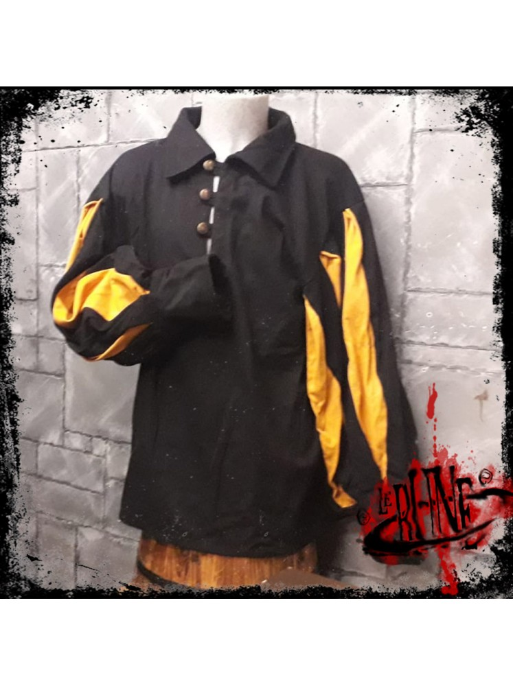 Canvas shirt Olaf  Black/Yellow