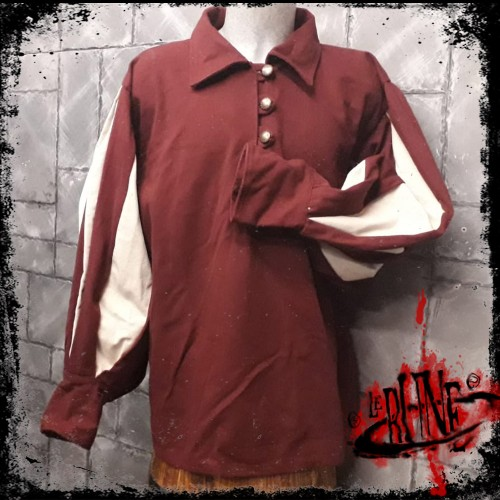 Canvas shirt Olaf  Wine Red/Nature