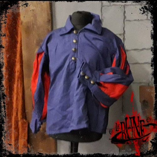 Canvas shirt Olaf  Blue/Red