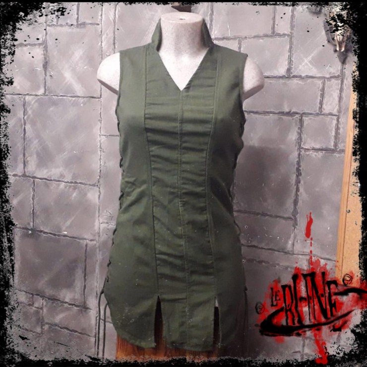 Canvas tunic Mialee olive green
