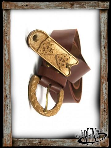 Leather belt Lain - Brown