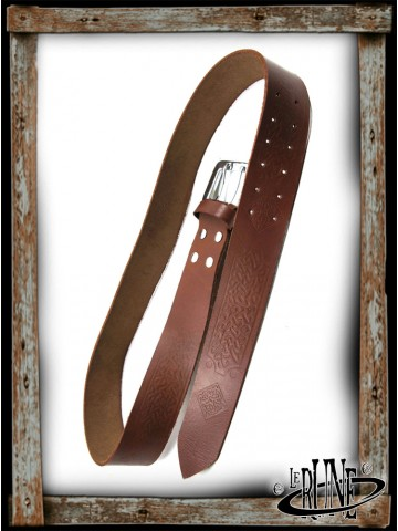 Leather belt Brian - Brown