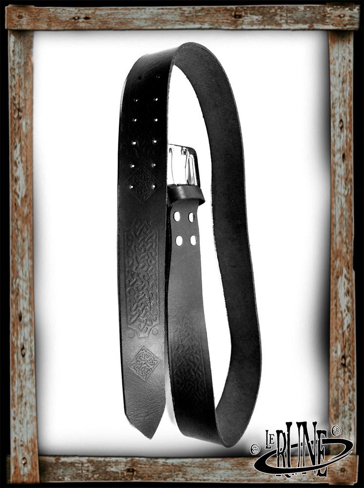 Leather belt Brian - Black