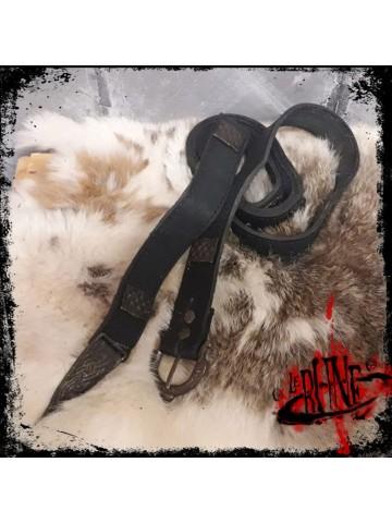 Galvano leather belt