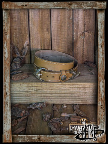 Viking belt Hrotgar - Light Brown