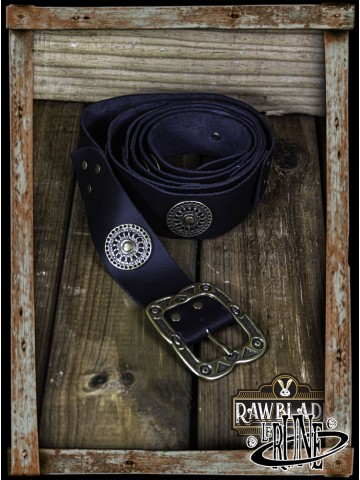 Noble belt with ornaments (Black)