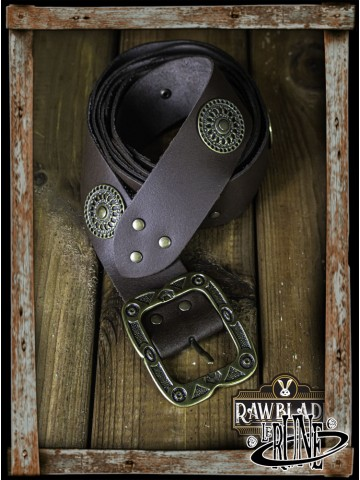 Noble belt with ornaments (Brown)