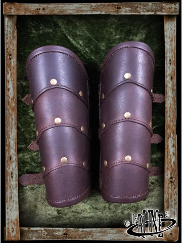 Leather bracers Roman