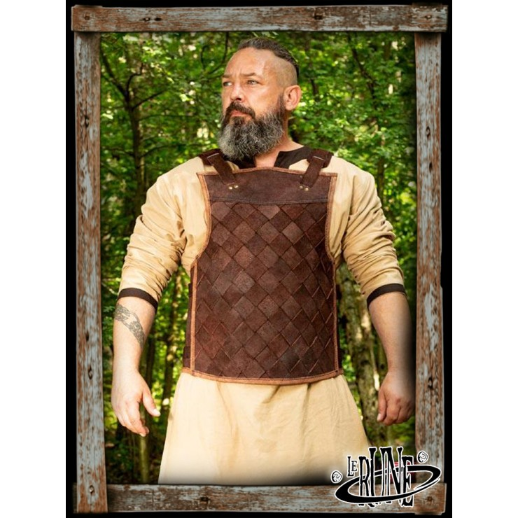 Leather breastplate RFB viking brown