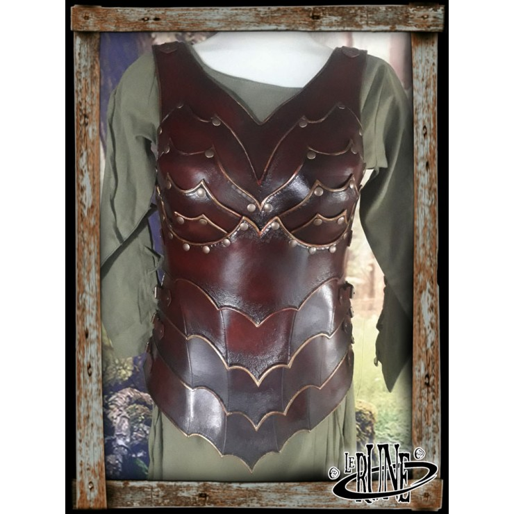 Leather female chestplate