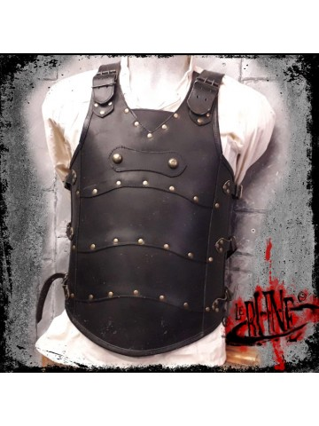 Leather cuirass Roman black