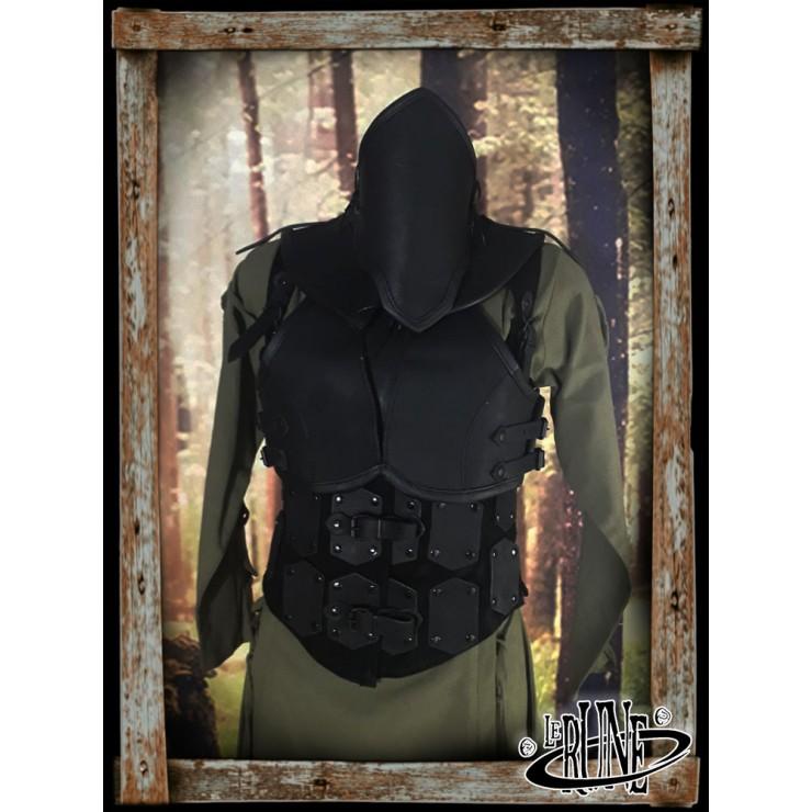 Leather female full set Swann Black
