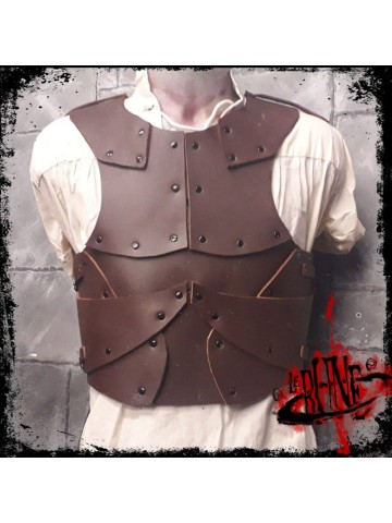 Leather cuirass Minus Brown