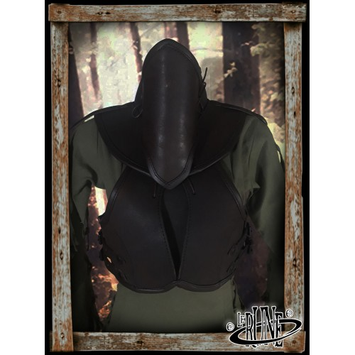 Leather female chestplate Swann