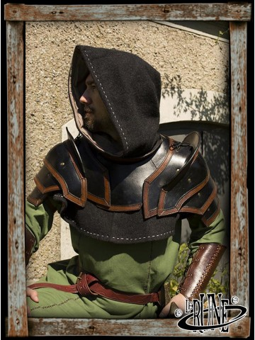 Shoulder Armour & Neck Guard (Black/Brown)