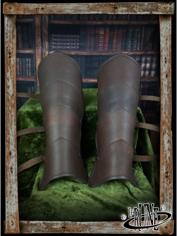 Leather greaves Gherman (Mk 2)