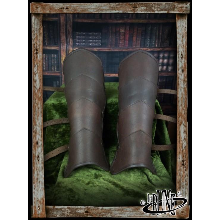 Leather greaves Gherman (Mk 2)