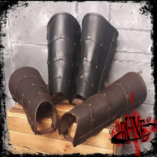 Leather greaves Roman