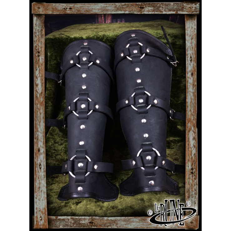 Leather greaves Conn