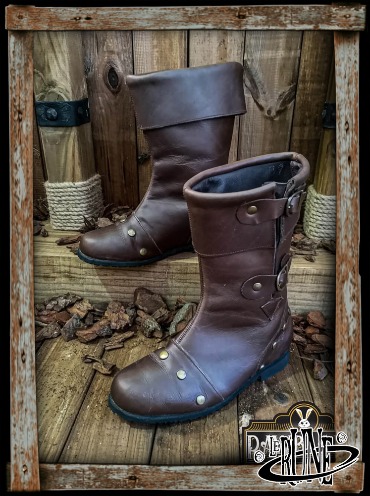 George Reinforced Boots - Brown leather