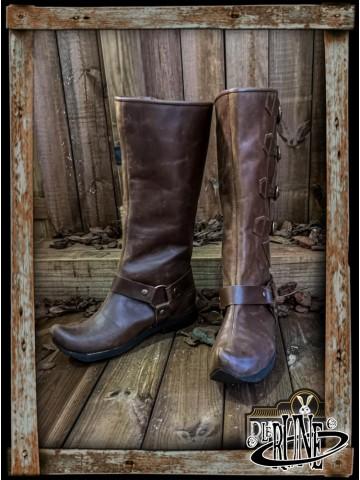 Jarek Cavalry Boots - Brown leather