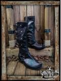 Jarek Cavalry Boots - Black leather