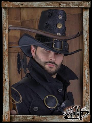 Deluxe Johann Witch Hunter hat - Black