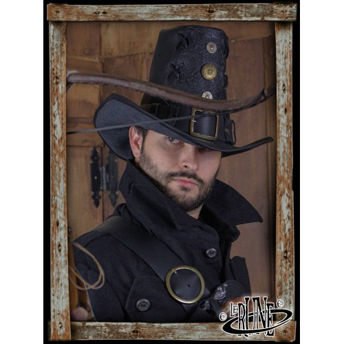 Deluxe Johann Witch Hunter hat - Black